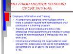 osha formaldehyde standard 29 cfr 1910 104810