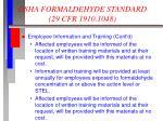 osha formaldehyde standard 29 cfr 1910 104811