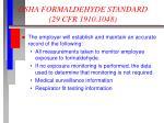 osha formaldehyde standard 29 cfr 1910 104812