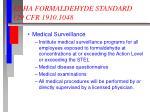 osha formaldehyde standard 29 cfr 1910 10487
