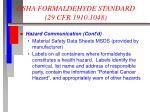 osha formaldehyde standard 29 cfr 1910 10489