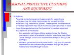 personal protective clothing and equipment2