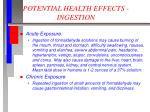 potential health effects ingestion