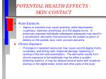 potential health effects skin contact