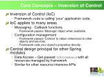 core concepts inversion of control