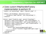 dependency injection for asp net