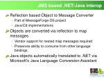 jms based net java interop