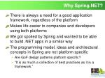 why spring net