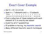 exact cover example