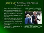 case study john rigas and adelphia communications