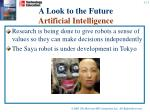a look to the future artificial intelligence