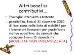 altri benefici contributivi