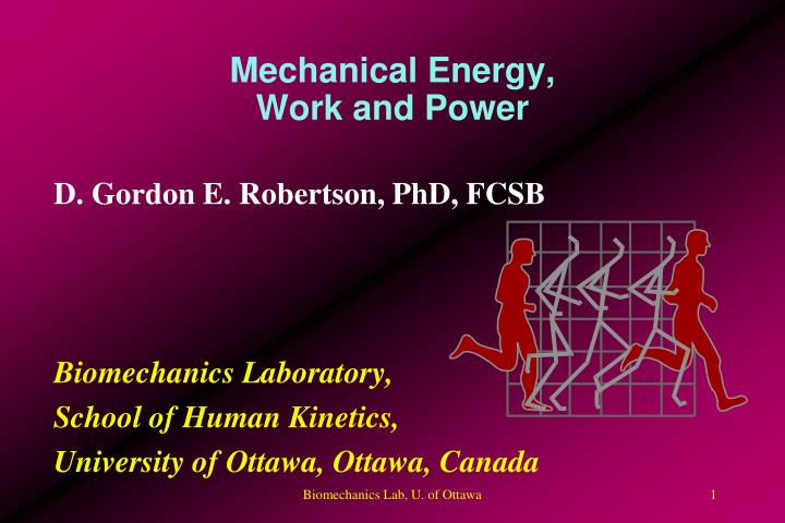mechanical energy work and power n.