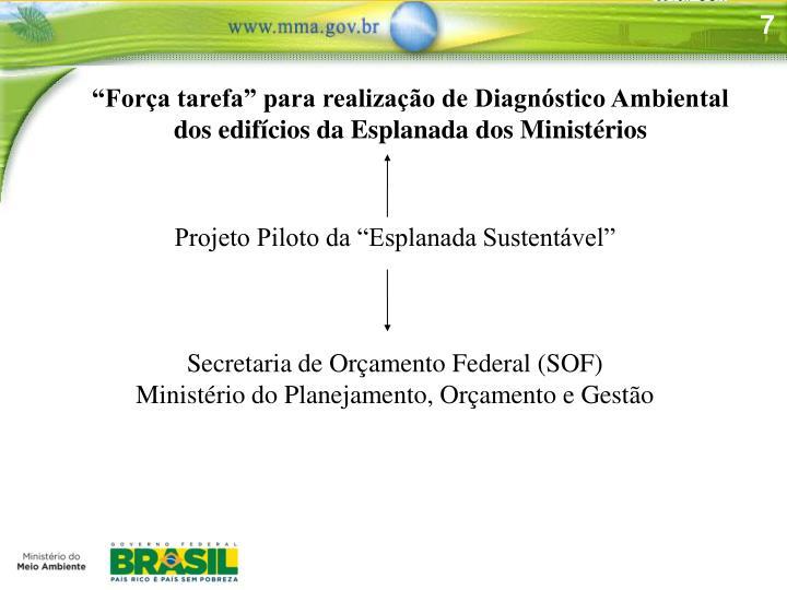 """""""Força tarefa"""" para realização de Diagnóstico Ambiental dos edifícios da Esplanada dos Ministérios"""