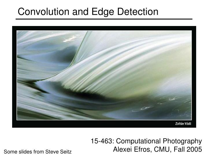 convolution and edge detection n.