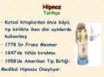 hipnoz tarih e