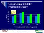 gross output 2008 by production system