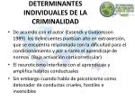 determinantes individuales de la criminalidad1