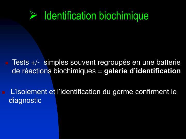 Identification biochimique
