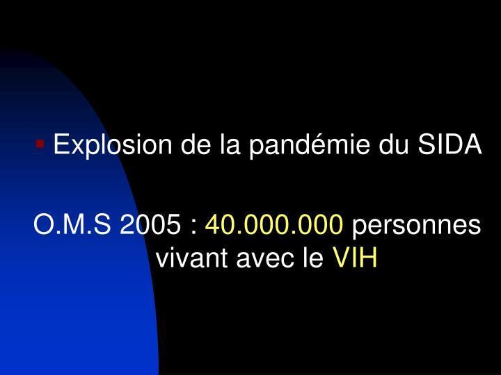 Explosion de la pandémie du SIDA
