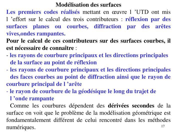 Modélisation des surfaces