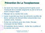 pr vention de la toxoplasmose