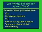 dss dysregulation spectrum syndrom yunus