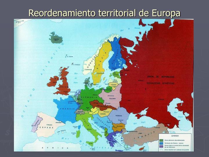 Reordenamiento territorial de Europa