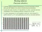 heating inductor funzione obiettivo