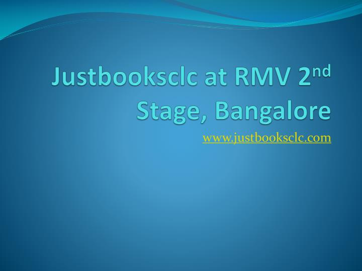 Justbooksclc at rmv 2 nd stage bangalore