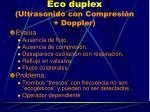 eco duplex ultrasonido con compresi n doppler