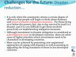 challenges for the future disaster reduction2