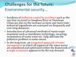 challenges for the future environmental security2