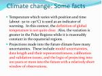 climate change some facts