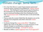 climate change some facts9