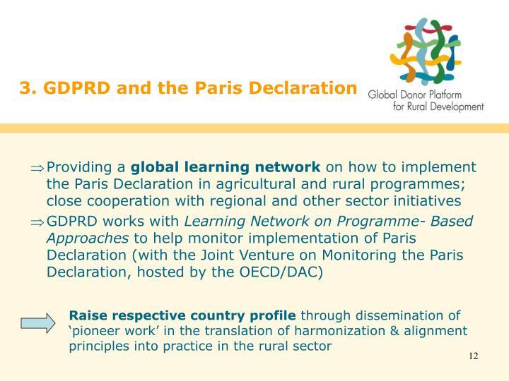 3. GDPRD and the Paris Declaration