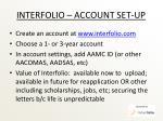 interfolio account set up