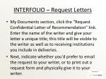 interfolio request letters