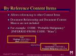 by reference content items