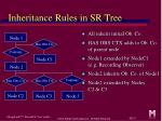 inheritance rules in sr tree