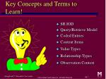 key concepts and terms to learn