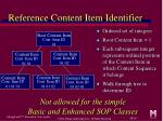 reference content item identifier