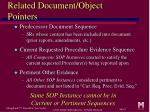 related document object pointers