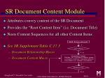 sr document content module