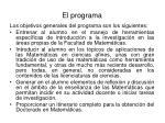 el programa1