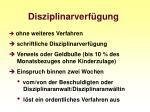 disziplinarverf gung