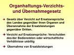 organhaftungs verzichts und bernahmegesetz