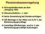 pensionskassenregelung