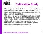 calibration study