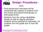 design procedures cont